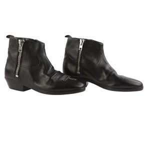 Golden Goose Viand Flat Leather Ankle Boots NWOT